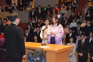 A speech by a graduating student representitive