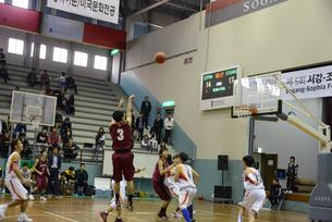 Men's basketball match