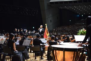Music by Sophia University Orchestra (Conductor Mr. Yasuhiko Shiozawa)